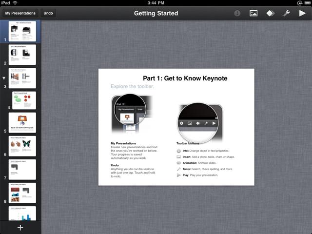 Keynote на iPad