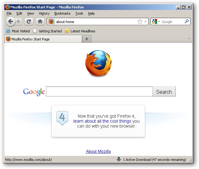 обновлённый браузер