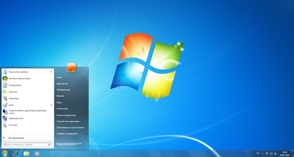 Переход с Windows XP на Windows 7
