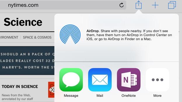 OneNote для iOS 8